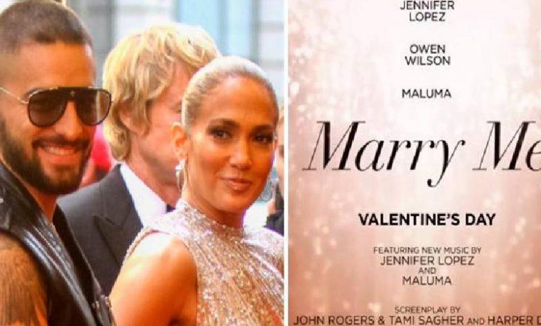 """CINE: """"MARRY ME"""" CON JLO. Y MALUMA SE APLAZA HASTA EL 2022."""